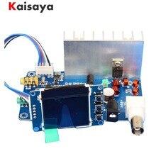 FM 5W 76 M 108 MHZ סטריאו PLL משדר חבילת 7W מרבי כוח תדר מתכוונן נפח התאסף לוח LCD צג C5 007