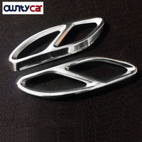 2016 2017 For Mercedes Benz CLA Class W117 C117 CLA200 CLA260 AMG Car Styling Steel Exhaust Pipe Frame Cover Trim Parts