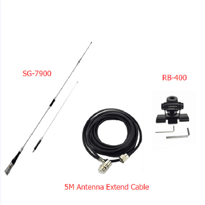 car radio antenna sg7900 antenna mount 5 meters cable u  v