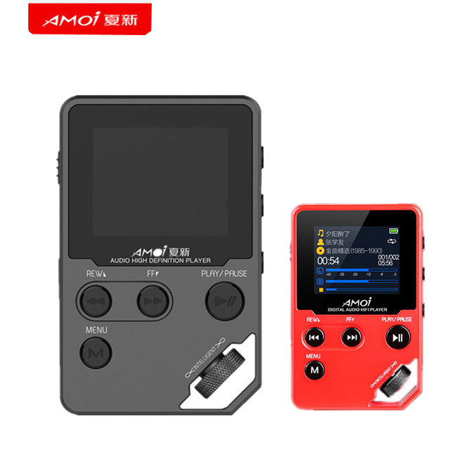 New Amoi C10 mp3 player Upgrade version HIFI HD Hardware Decoding APE/FLAC/DSD Lossless Entry-Level Music Player Support TF card