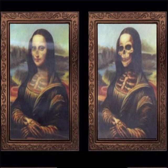 83dc534016f2 Creepy 3D Ghost Photos Frame Horror Skull Variable Picture Frame Scary  Halloween Party Decoration Haunted House