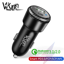 VVKing USB PD Type C Fast Car Charger 36W Quick Charge 3.0 For Huawei Samsung LG Xiaomi OnePlus DASH/SCP/FCP/AFC