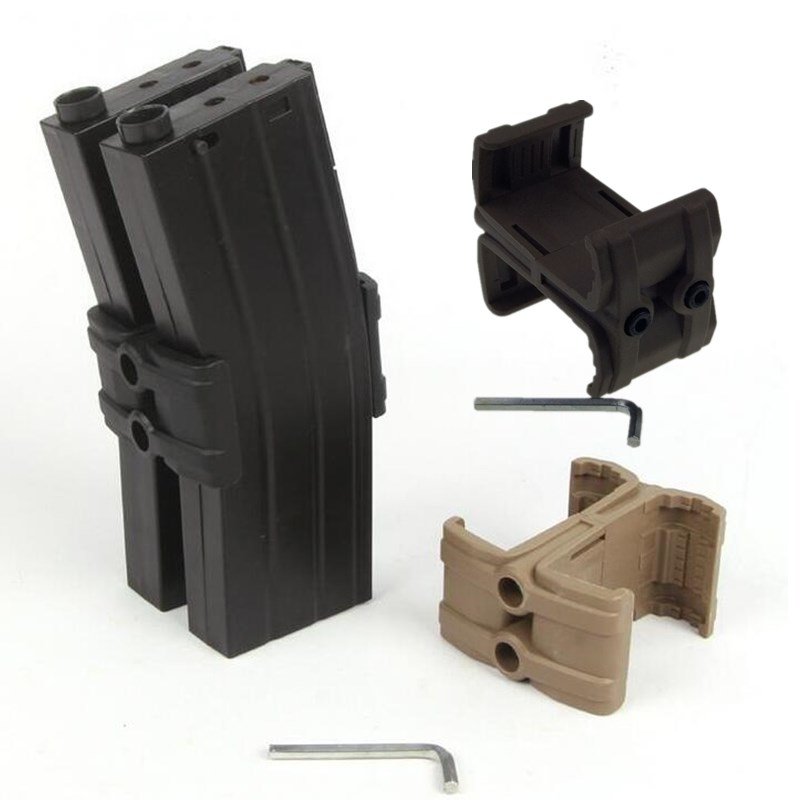 Tactical Double Round magazine ABS Parallel MagLink Coupler Clamp  Connector kit Mount Holder For Rifle Gun   Tactical Double Round magazine ABS Parallel MagLink Coupler Clamp  Connector kit Mount Holder For Rifle Gun