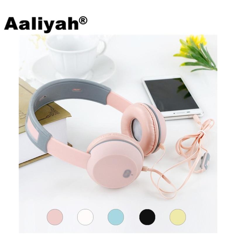 Aaliyah New 3.5mm Cute Cartoon Children Headphones With Microphone Gaming Headset Earphone Pink Headset Headphone For Girls Kids