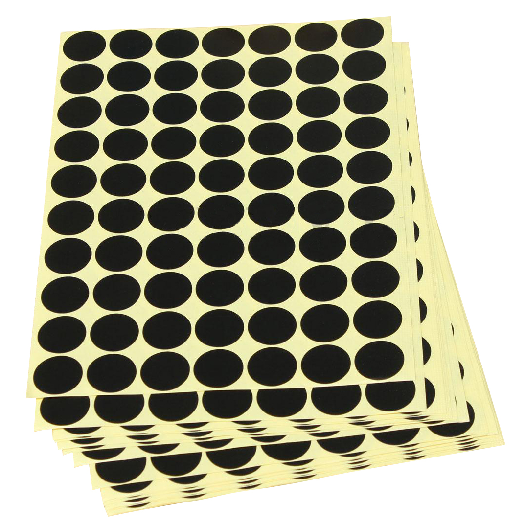 19mm Cute Circles Round Code Stickers Scrapbooking Self Adhesive Sticky Labels Black