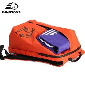 Image 5 - Mochilas de mujer Kingsons, diseño de patente, Mochila de 15 , bolso de escuela, bolsas de nailon de alta calidad Unisex, Mochila de viaje