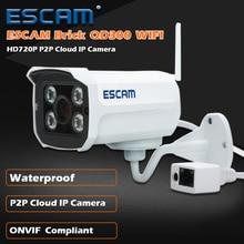 ESCAM QD300 Mini Bullet WiFi IP Camera HD 720P Onvif P2P IR Outdoor Surveillance Night Vision Security CCTV Camera Android Phone