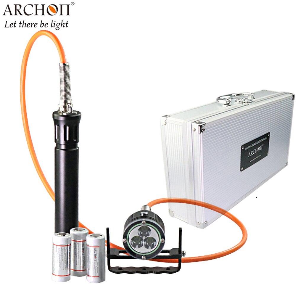 ARCHON DH30 II Diving Spotlight 3 CREE XM L2 U2 LEDs max 3600 lumen underwater 100