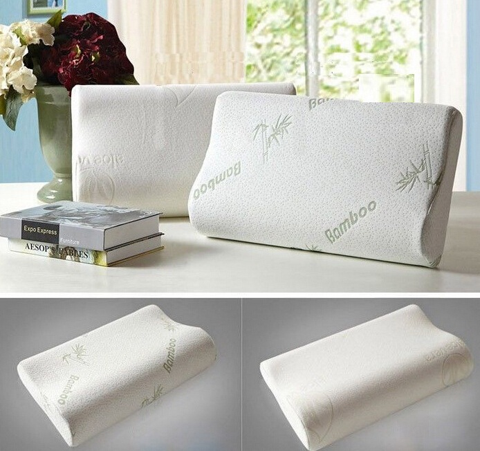 FD40 Bamboo Fiber Cover Memory Foam Pillow Cervical Protection Cool Bamboo Covered Memory Foam Pillow