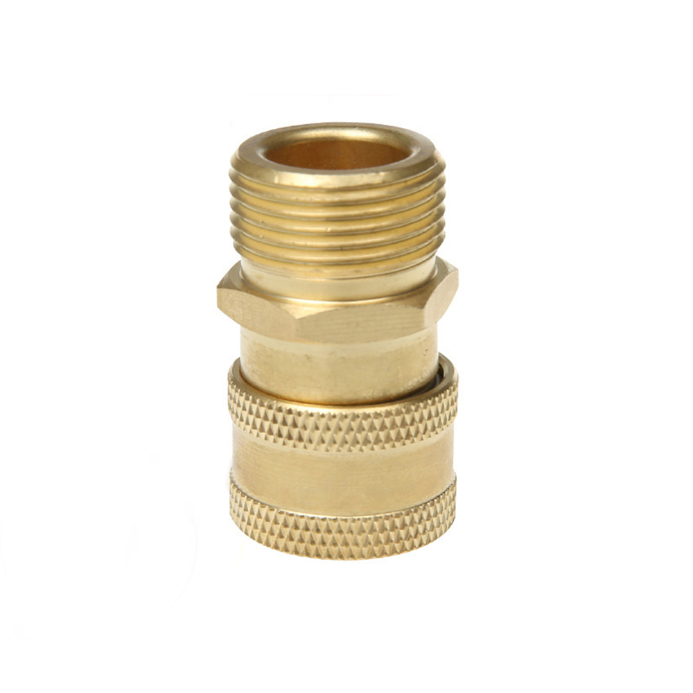 "Image 2 - High Pressure Washer Brass Connector Adapter M22 Male 1/4"" female Car Washer Quick Connection Adapter with 5 Car Washing Nozzles-in Water Gun & Snow Foam Lance from Automobiles & Motorcycles"
