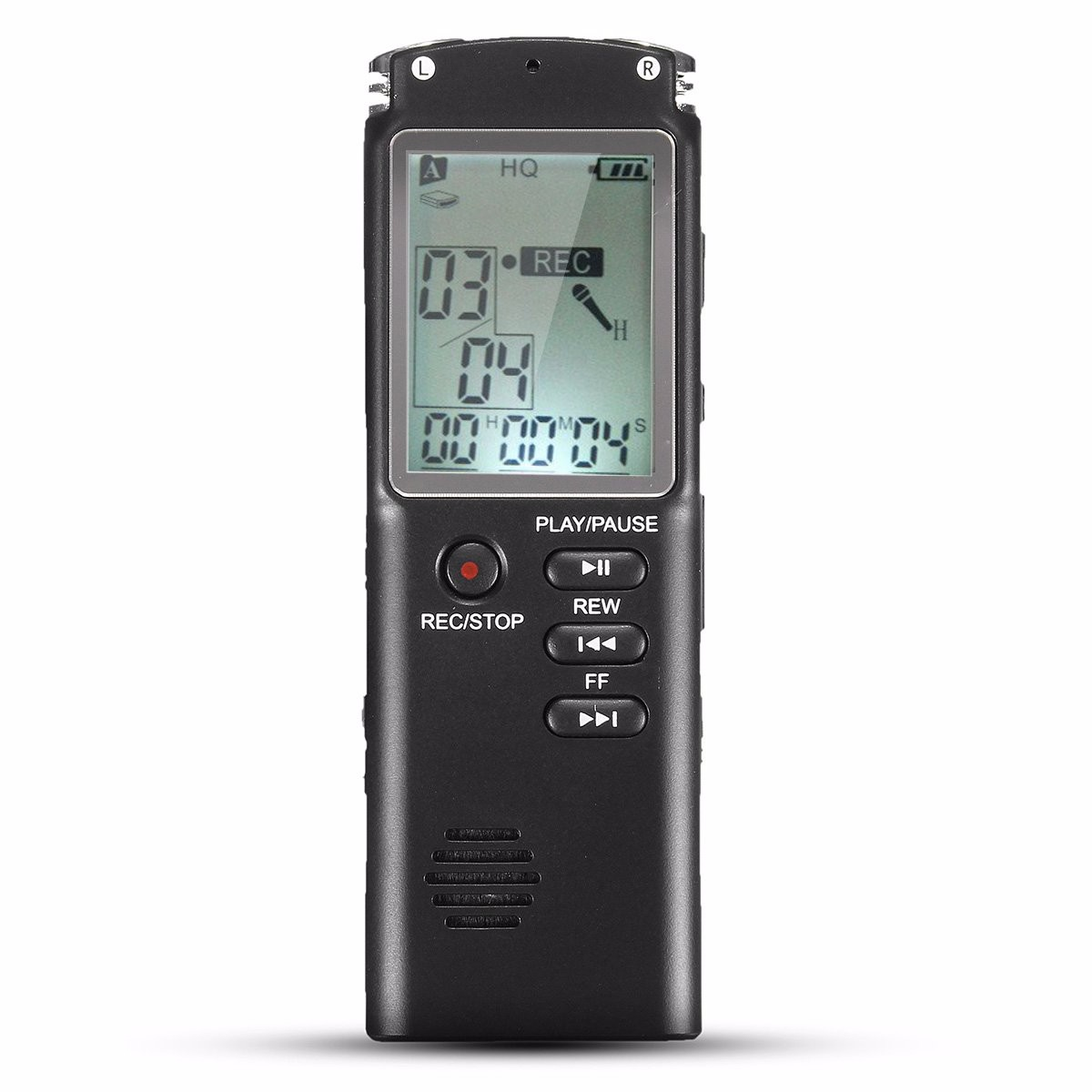 Portable 8GB LCD Digital Audio Voice Recorder Dictaphone Rechargeable MP3 Player With Earphone Built-in Microphone ruizu x02 1 8 tft lcd screen rechargeable digital voice recorder mp3 player black 8gb
