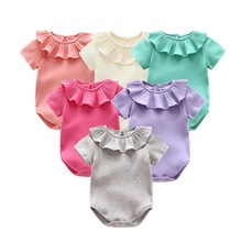 Newborn Baby Clothes Summer Go Out Climbing Body Girl Knitted Rompers Short Sleeved Jumpsuit Outfits
