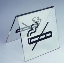 2pcs freeshipping  8x8x6.5cm -Acrylic sign no smoking