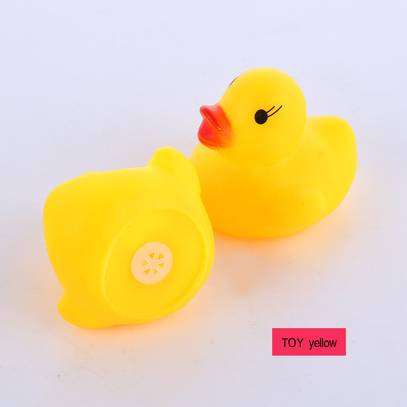 Systematic 100 Pcs/lot Kawaii Baby Squeaky Rubber Ducks Kids Bath Toys For Children Girls Water Swimming Pool Fun Lz