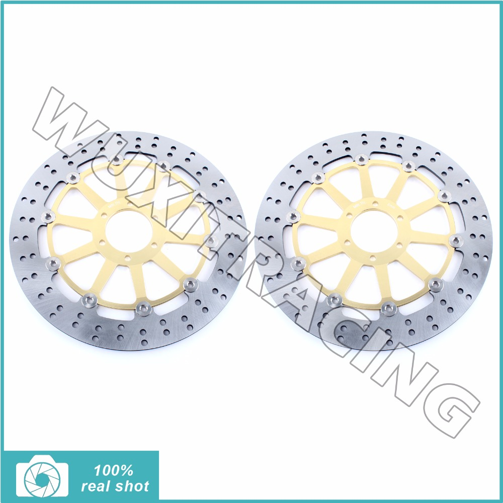Front Brake Discs Rotors for MOTO GUZZI BREVA 850 1100 1200 05-08 GRISO 850 1100 1200 05-16 NORGE 850 1200 06-07 SPORT 1100 1200 cnc short clutch brake levers for moto guzzi griso breva 1100 norge 1200 gt8v
