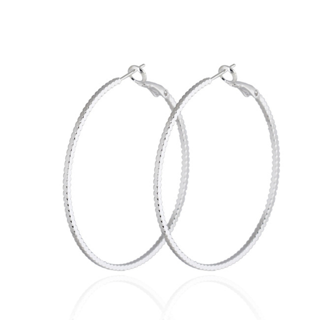080cc87f711 Fashion Womens Jewelry Bijoux White/Yellow Gold Color Big Round Circle Loop  Hoop Earrings for Women Girls Party Festive Gift