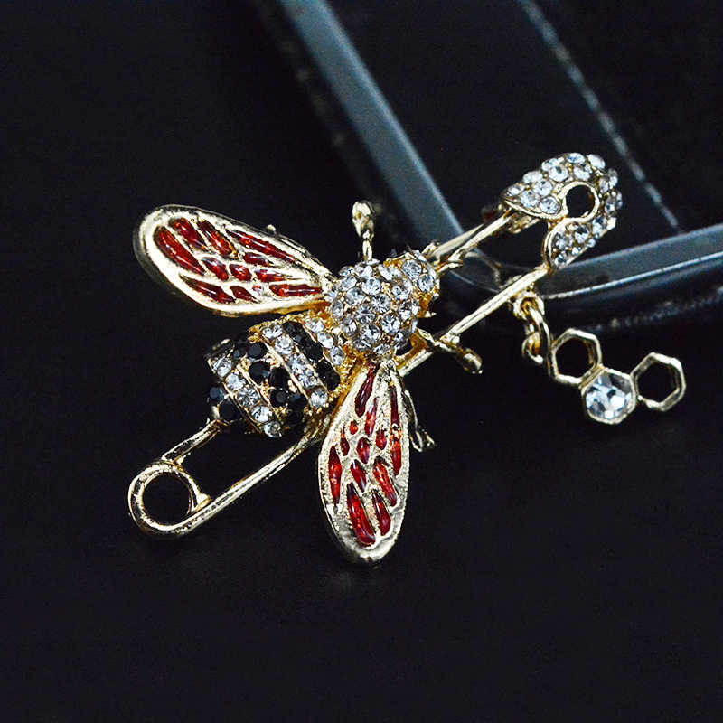 4d85c5abbb6 ... Alloy Cute Enamel Tack Bee Brooch Pins Women's Shirt Accessories Badges  On The Clothes Insect Jewelry ...
