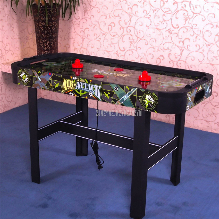 For Children Games 4 Feet Air Hockey Table Home Indoor Sport Game Play Equipment With 4 Pucks 4 Felt Pusher Mallet Grip WH4001