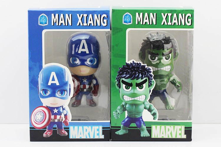 5set/lot 10pcs marvel avengers action figure captain america hulk toy action toy...