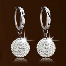 925 Sterling Silver Shambhala Full Of Zircon Silver Earring For Women Girl