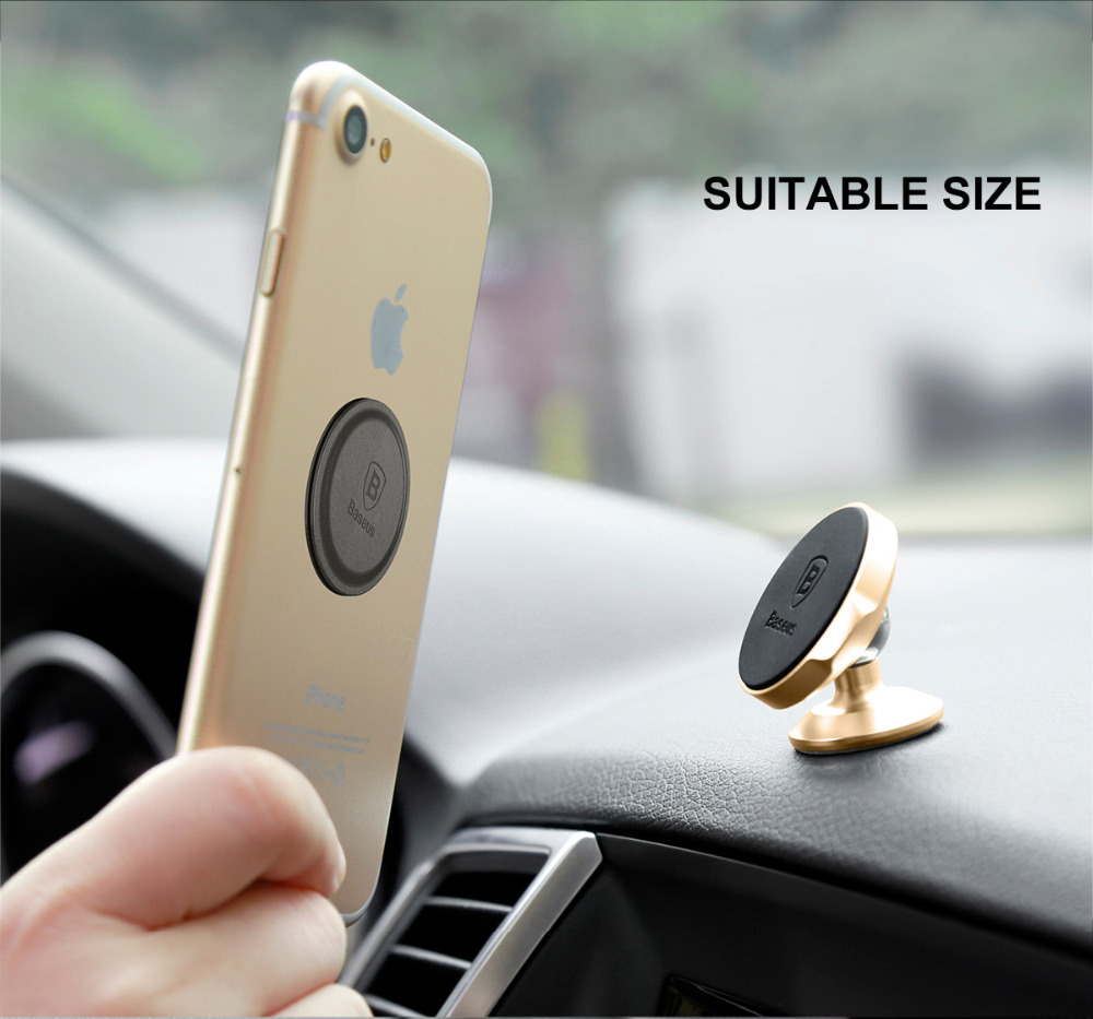 Baseus Iron Disk For Magnetic Phone Holder Magnet Metal Plate & Leather Sheets For Magnetic Air Vent Mount Car Holder Stand