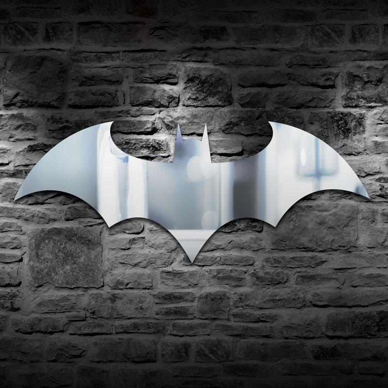 1 Stück Bat Logo Wand Hause Dekoration Spiegel Bat Spiegel Wand Montiert Dusche Spiegel Tier Wand Kunst Dekorative Spiegel Dekor Geschenk äRger LöSchen Und Durst LöSchen