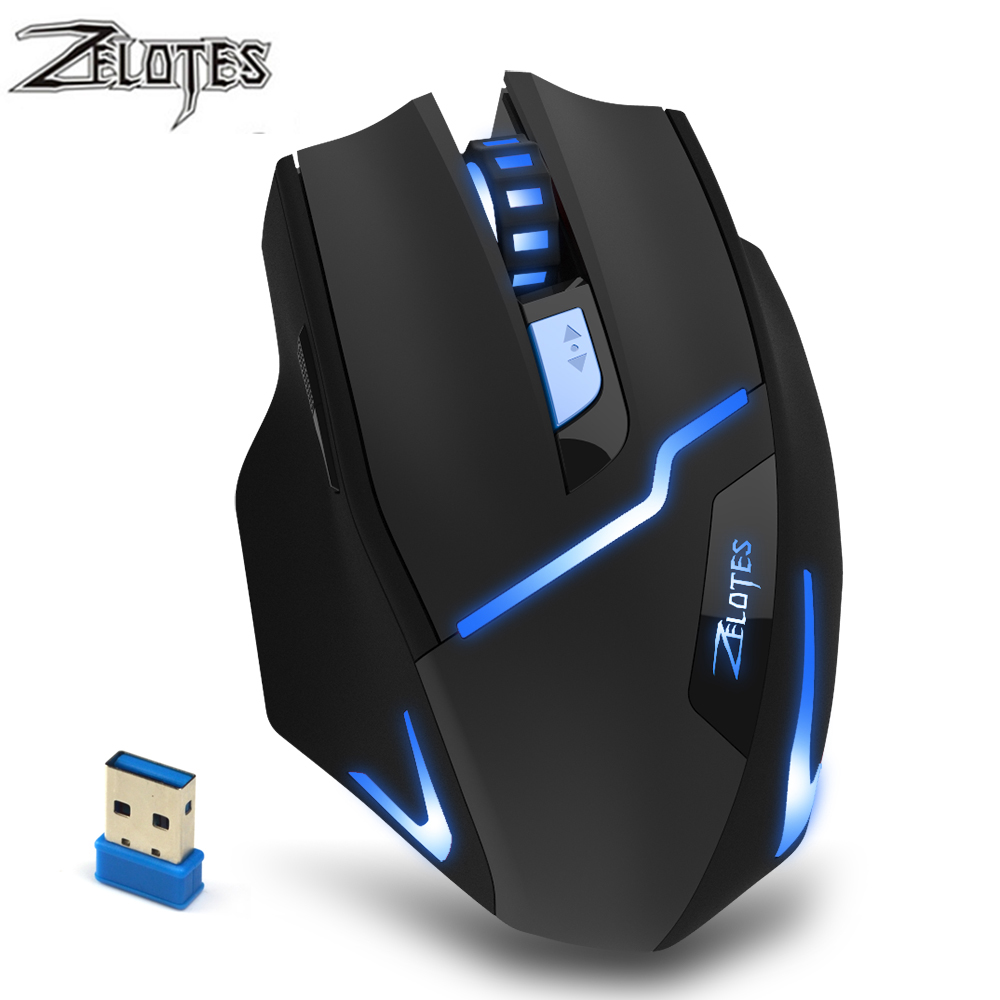 ZEALOT F 16 Optical 2400 DPI Wireless Gaming Mouse 2.4 GHz Portable Game Mice with USB Receiver for Computer PC Laptop-in Mice from Computer & Office