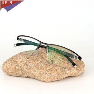 Image 5 - 2019 erkekler tarzı titanyum alaşımlı kaliteli fotokromik presbiyopi erkek gözlük moda kare yarım jant klasik okuma gözlüğü için