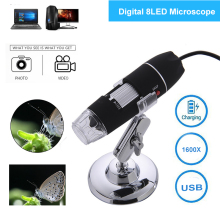 1600X LED Digital Microscope USB Microscopio Endoscope Camera LED Microscope Metal Base Portable Hand Held Endoscope