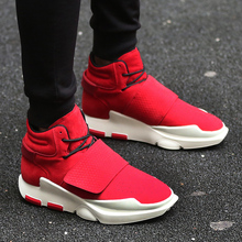 Hook Shoe Men's Casual Sport Breathable High Tops Botas Flats Ankle Boots Chaussures Homme Calzado Hombre Mens Lace-Up Shoes