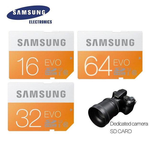 SAMSUNG Memory Card 64G C10 UHS-I SD 48M EVO SD Card Class 10 SDHC SDXC 64GB 64 G for Camera Free Shipping 100% Original
