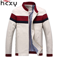 HCXY 2016 новая коллекция весна и осень мужская марка повседневная куртка тонкий сплошной цвет куртки стоячие молния куртки мужские большой размер куртка