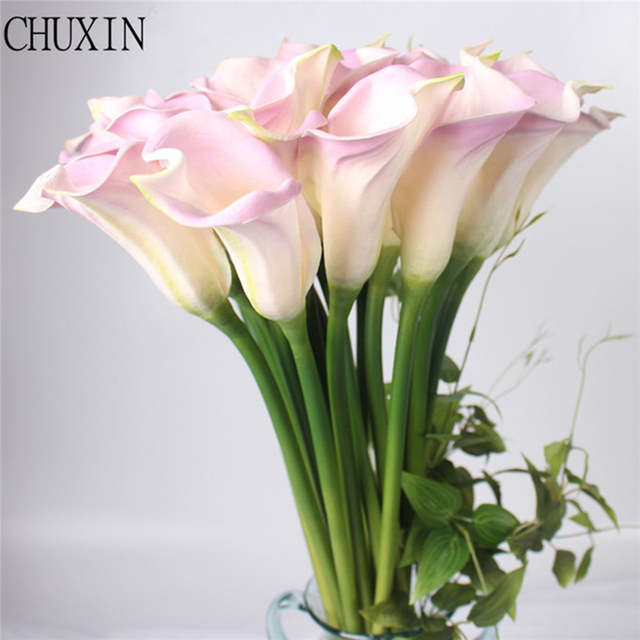 Big Size Real Touch Pu Calla Lily Artificial Flower Hand Feel
