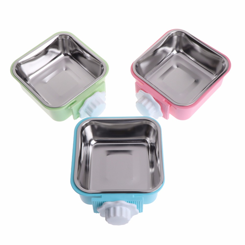 1Pc font b Pet b font Bowl Stainless Steel Water Food Feeder Feeding Dog Puppy Cat