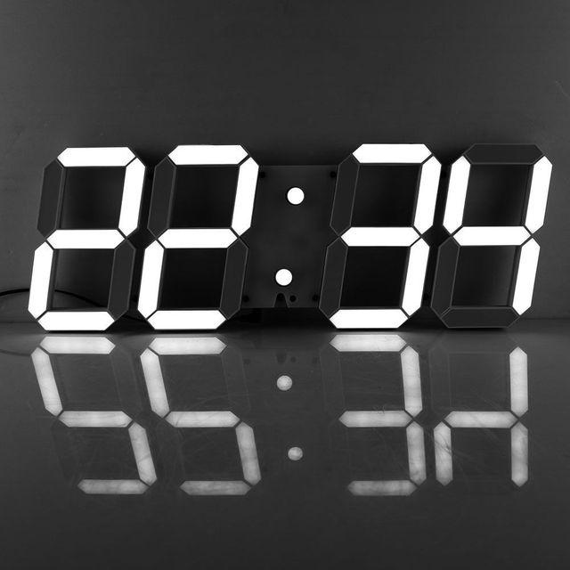 Télécommande 3D Numérique LED Horloge Murale avec Plusieurs Alarmes ...