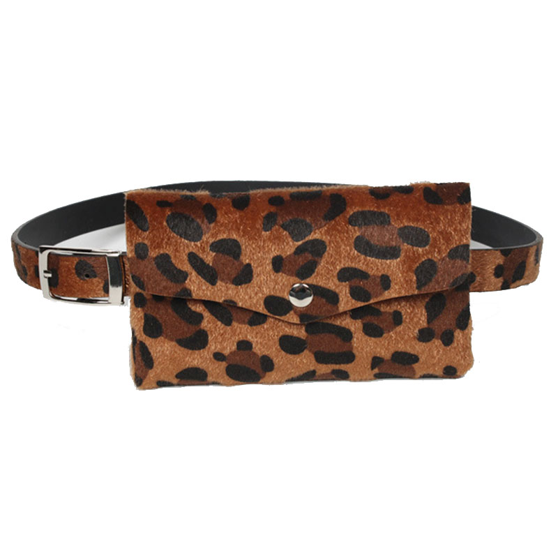 2018 Brand Money Phone Waist Packs Fashion Leopard Women Waist Bag Belt Female Fanny Pack for Women Waistbag Leather Bum Pouch