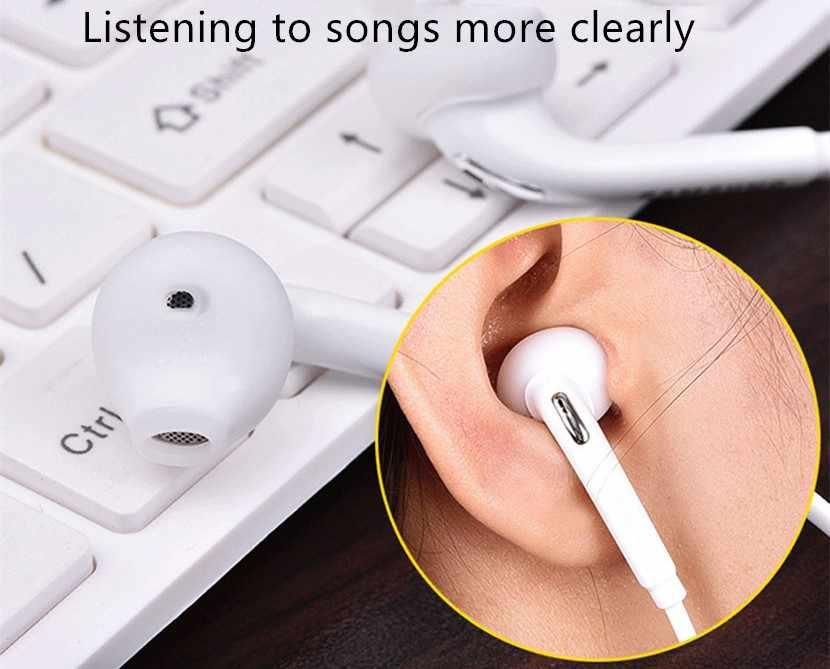 3.5mm słuchawki douszne basowy zestaw słuchawkowy Stereo z mikrofonem dla Iphone Mp3 Mp4 Samsung Xiaomi Huawei Bluetooth słuchawki douszne słuchawki
