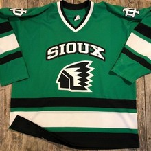Rare Vintage North Dakota Fighting Sioux 1990 s Hockey Jersey Embroidery  Stitched Customize any number and name aec076bec