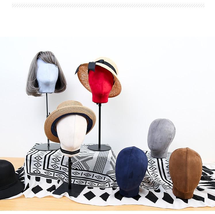 Nouveauté Mannequin de tête en tissu à la mode Mannequin de tête de Mannequin coloré en Promotion