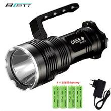 Flashlight CREE XHP50 Lamp beads Long shot 500 meters Direct charging 4*18650 battery Outdoor waterproof torch flashlight