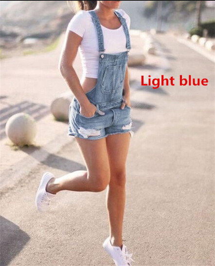 2018 Newest Women 39 s Denims Pants Hole Jumpsuits Romper Ripped Jeans Overralls Suspender Trousers Shorts Outdoors Plus Size in Jeans from Women 39 s Clothing