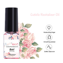 LEMOOC 8ml Nail Cuticle Oil Transparent Revitalizer Cuticle Oil Fruit Flower Flavor Nutrition Soften Dead Skin Nail Care Tools