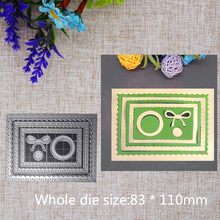 New Creative Inside Rectangle Arts Steel Cutting Dies Craft Scrapbook Stamps Embossing Paper Card  83x110mm