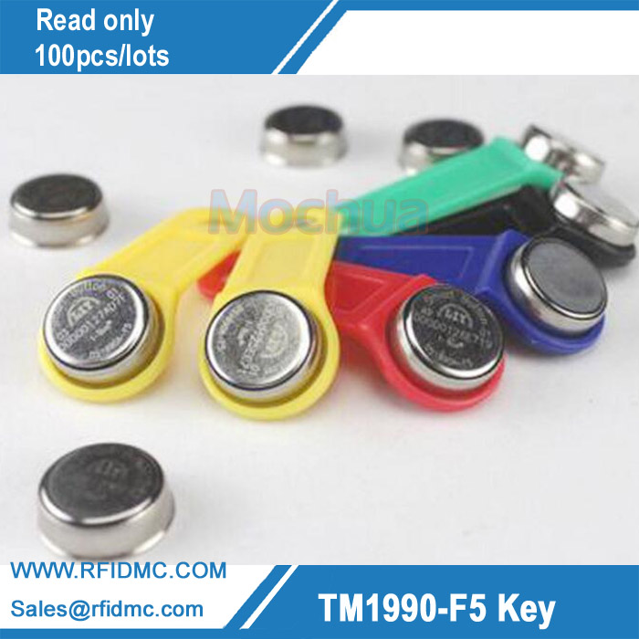 1990A-F5 Ibutton Read Only Touch Memory key with holder for guard tour system--100pcs/lot 100pcs lot sl431asf