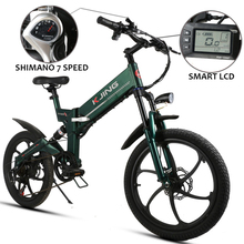 Electric bike 20inch folding frame  montain bicycle 48v lithium battery 350watts smart lcd control ebike off road 50km rang