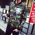 Hot Selling 2016 New Arrival Men Fashion Collar Camouflage Jacket Male Slim-type Jacket Coat