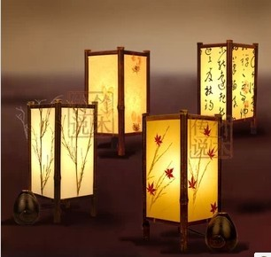100Hand Made Japanese Table Lamp Bedroom Desktop Vintage Romantic Home Decoration New Year Gift Free Shipping M601