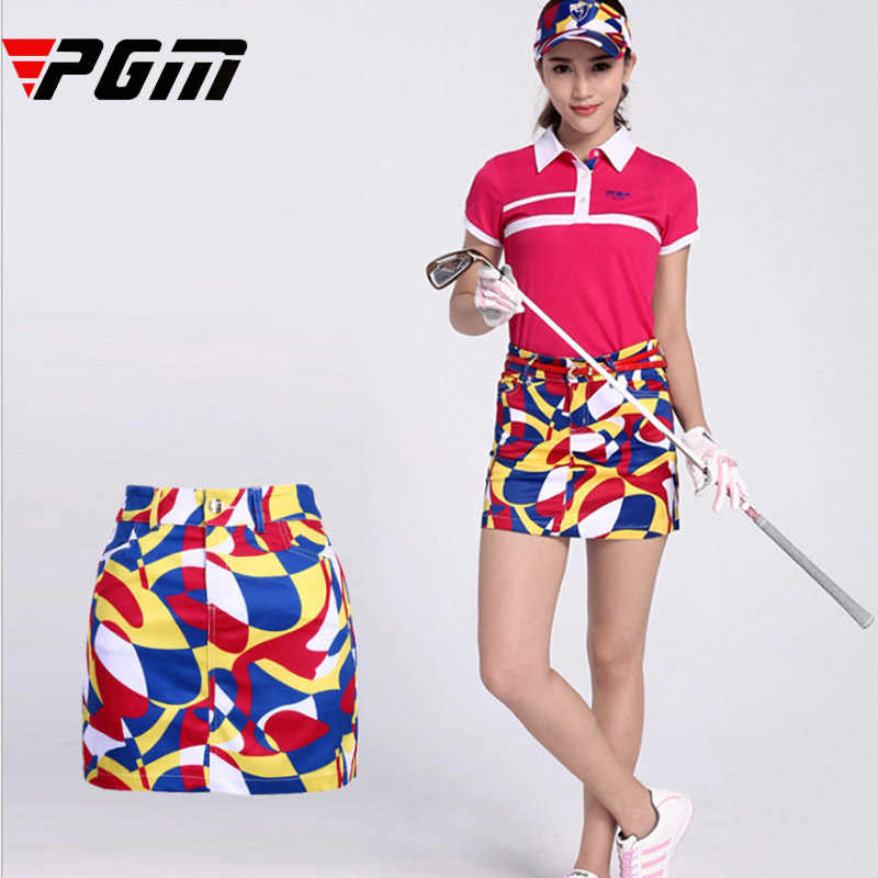 Brand Women Printed Skirt Sport Golf Skirt Soft Comfortable Anti sweat Breathable sports skirt elastic lined underpants XS M XXL