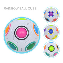 Funny FootBall Magic Cube Toy Plastic Creative Rainbow Football Puzzle Children Learning Educational Fidget Toys For Children creative mini football magic cube rainbow ball gift