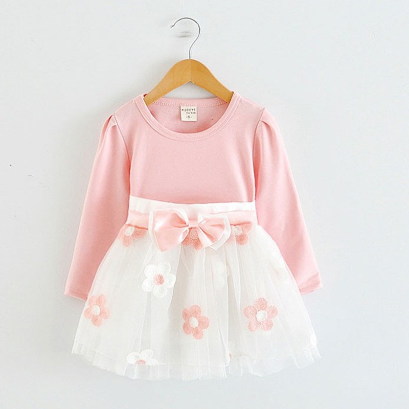 Autumn Winter Baby Girl Dress Kid Clothes Infant Flower Toddler Dresses 1 2 Years Birthday Gift Long Sleeve Vestido 12 24M number